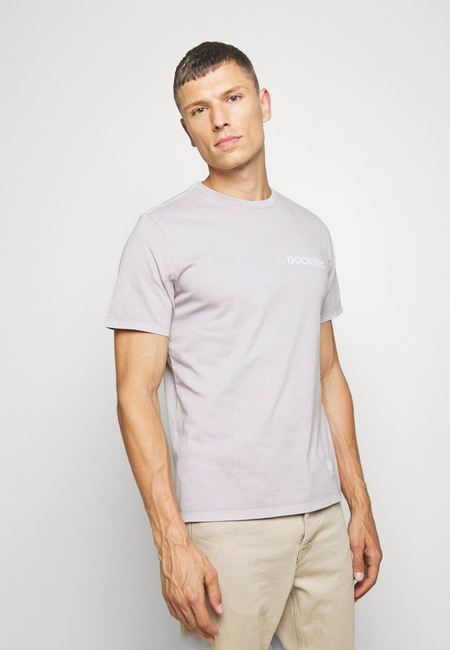 SUSTAINABLE TEE - Print T-shirt - gull gray