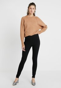 Dorothy Perkins Tall - MOCK FLY BENG - Trousers - black - 1