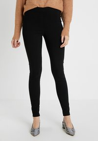 Dorothy Perkins Tall - MOCK FLY BENG - Trousers - black - 0