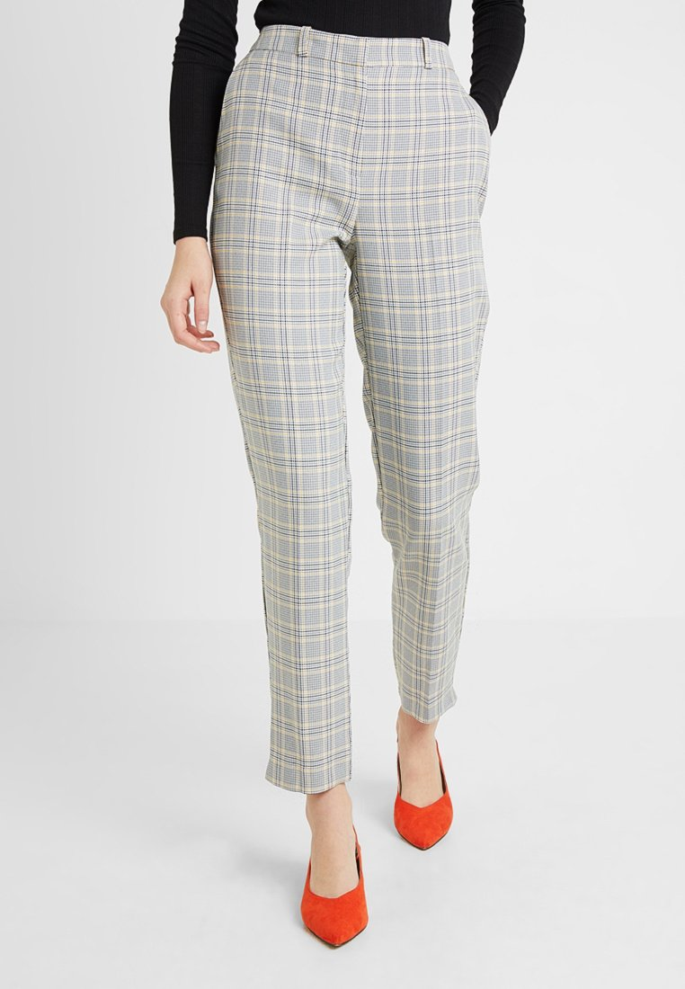 Dorothy Perkins Tall - SUMMER CHECK ANKLE GRAZE - Trousers - light grey