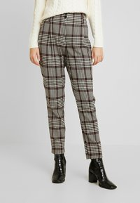 Dorothy Perkins Tall - HIGH WAISTED CHECK TROUSER - Bukse - red - 0