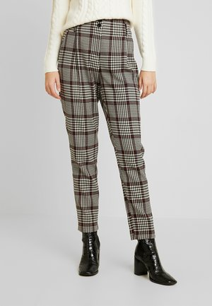 HIGH WAISTED CHECK TROUSER - Broek - red