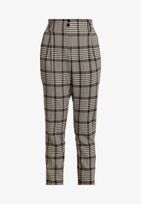 Dorothy Perkins Tall - HIGH WAISTED CHECK TROUSER - Bukse - red