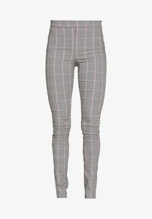 CHECK BENGALINE TROUSER - Leggingsit - light grey