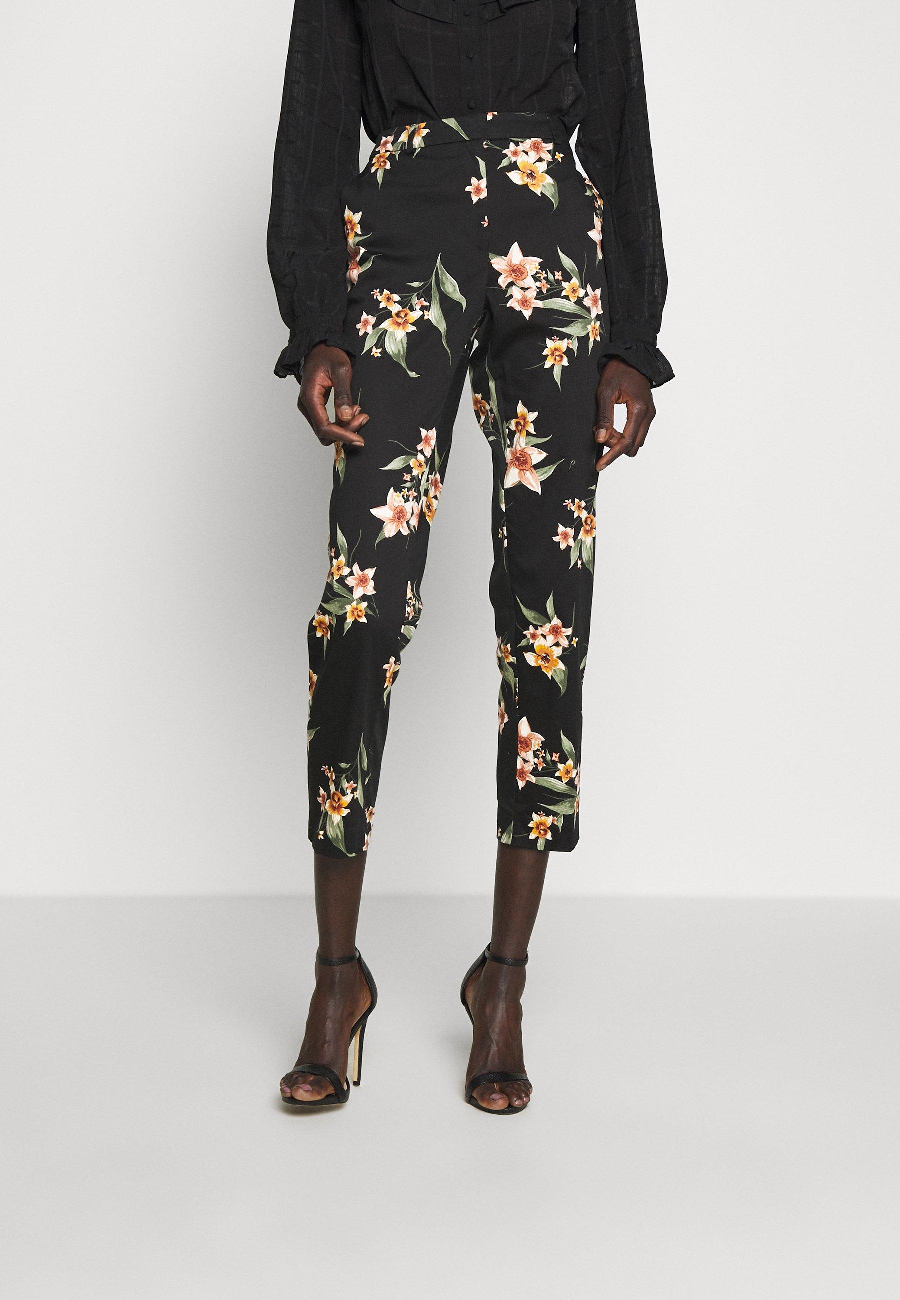 Dorothy Perkins Tall ANKLE GRAZER - Spodnie materiałowe - black