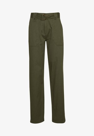 TALL PISTACHIO CARGO BELTED TROUSER - Kalhoty - olive