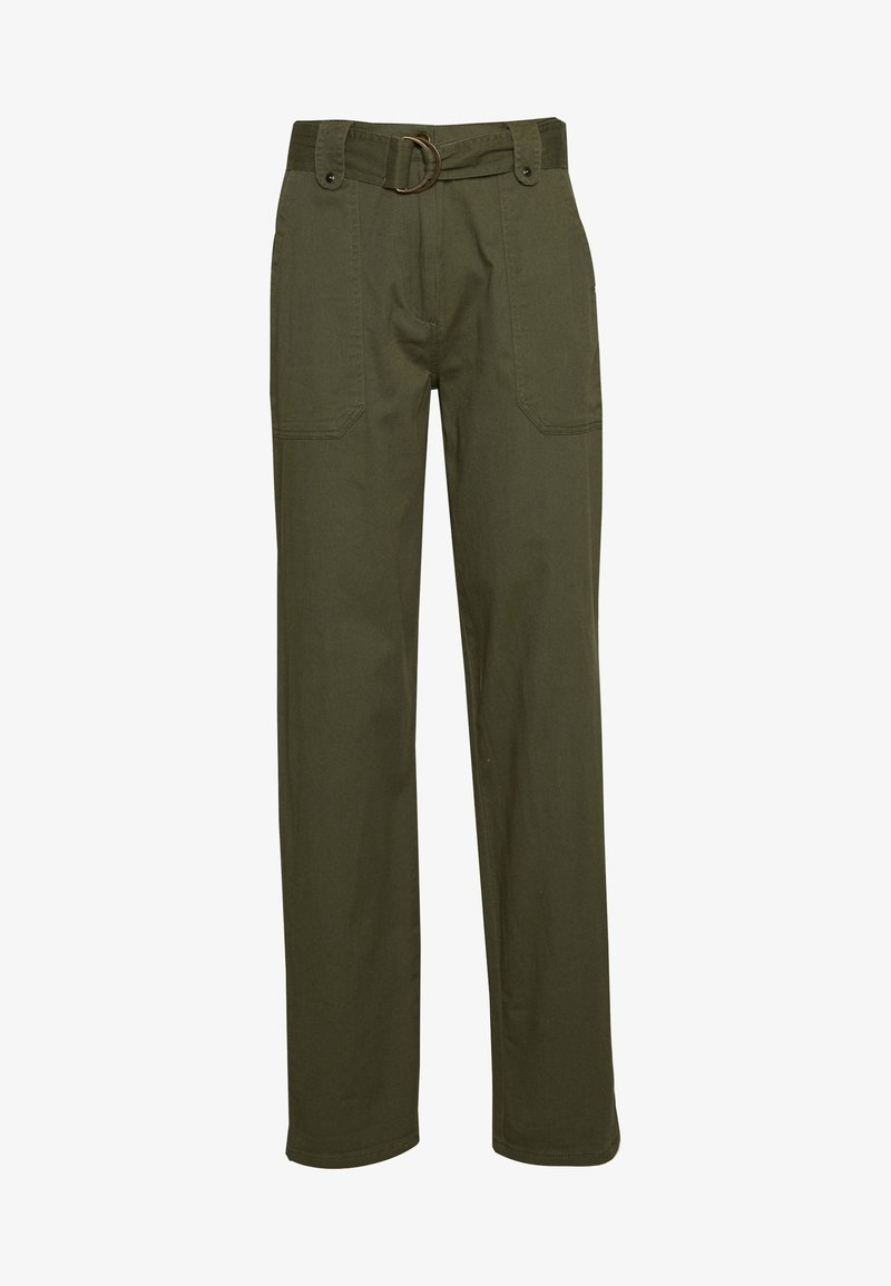 Dorothy Perkins Tall - TALL PISTACHIO CARGO BELTED TROUSER - Bukse - olive