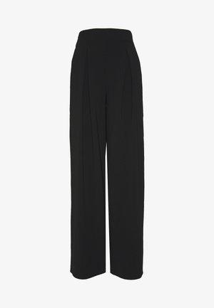 PLAIN PALAZZO - Spodnie materiałowe - black
