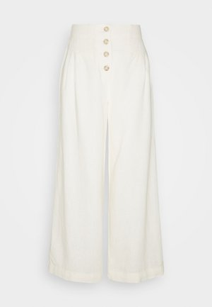 TALL BUTTON  - Trousers - cream