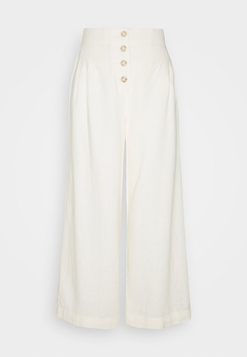 Dorothy Perkins Tall - TALL BUTTON  - Trousers - cream