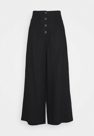 TALL BUTTON  - Pantalon classique - black