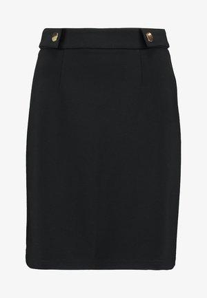 POPPER - Mini skirt - black