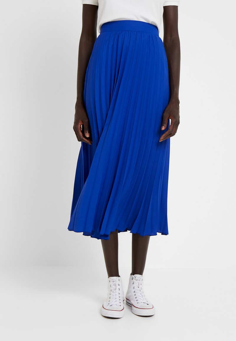 Dorothy Perkins Tall - PLEATED SKIRT - A-lijn rok - cobalt