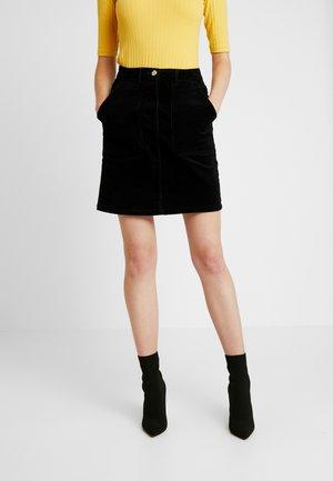 PATCH POCKET SKIRT - Mini skirt - black