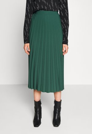 PLAIN PLEAT MIDI SKIRT - A-lijn rok - green