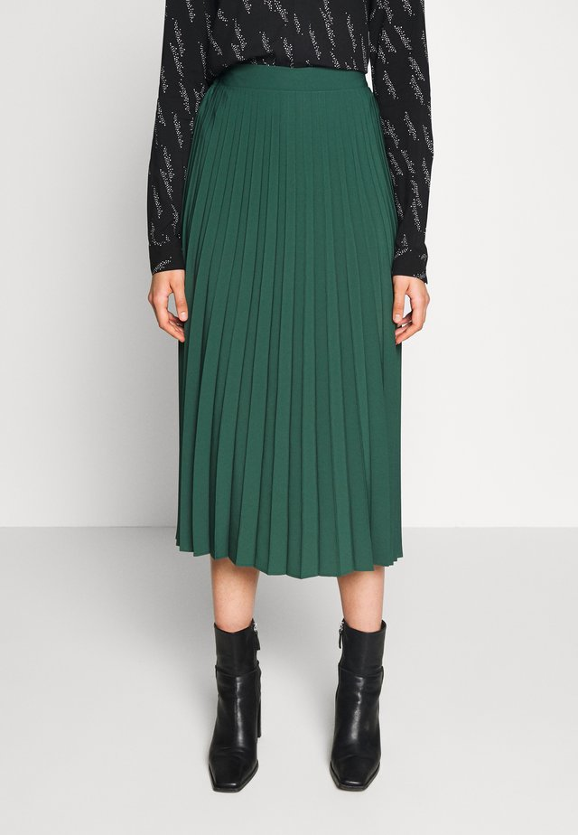 PLAIN PLEAT MIDI SKIRT - Áčková sukně - green
