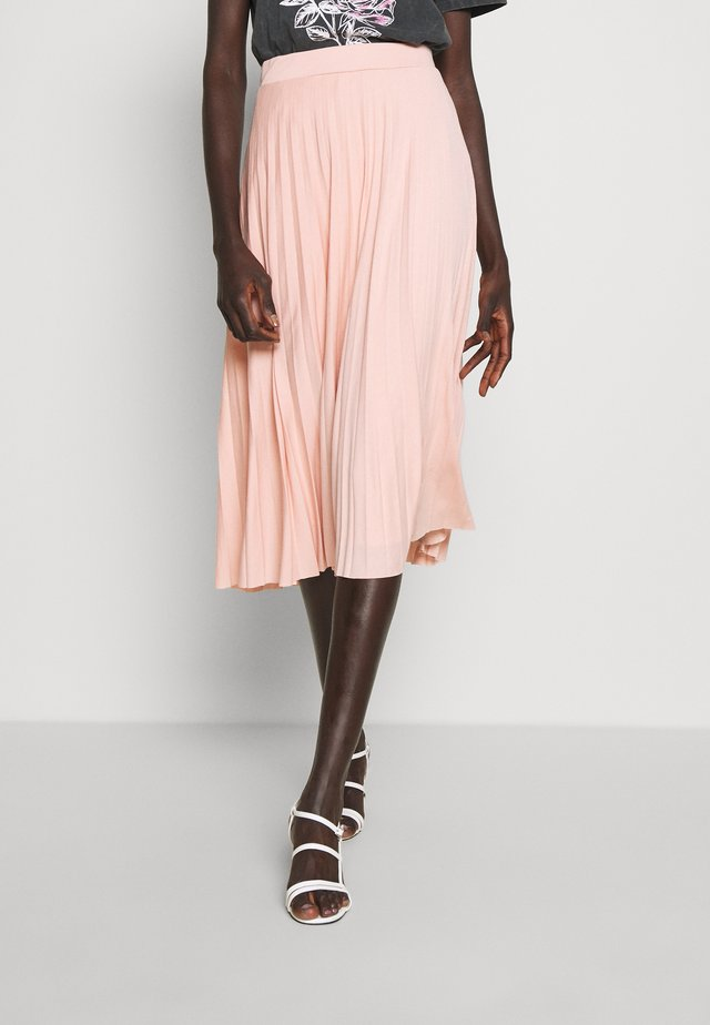 TALL PLEAT SKIRT - Gonna lunga - blush