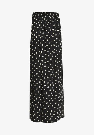 SPOT SPLIT SIDE SKIRT - Maxi sukně - black