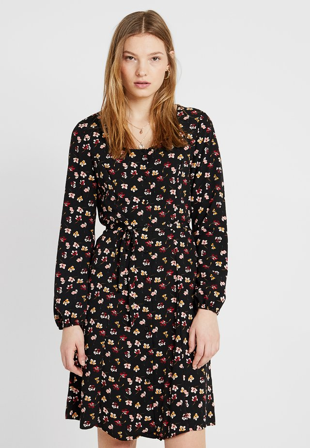 DITSY FLORAL TEA DRESS - Vapaa-ajan mekko - black