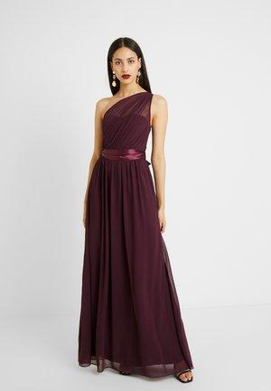 SADIE SHOULDER DRESS - Vestido de fiesta - merlot