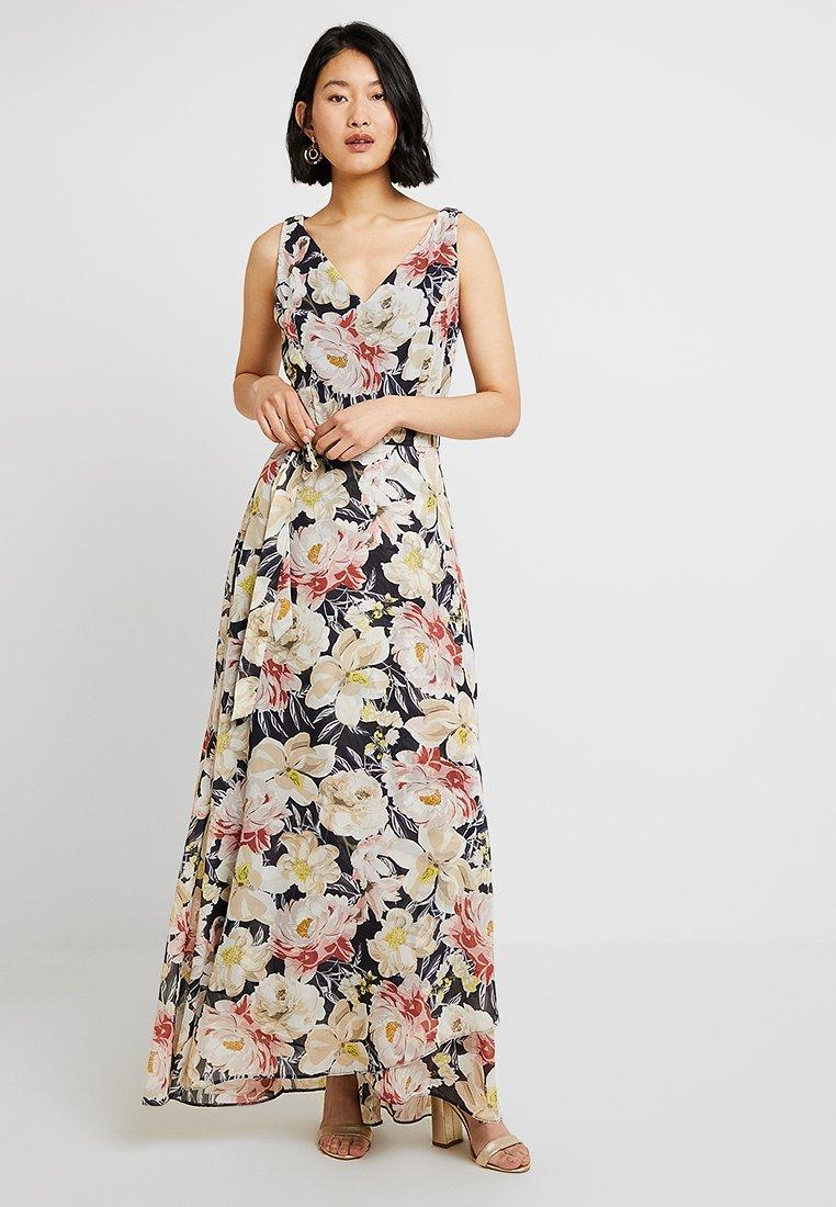 Dorothy Perkins Tall - LARGE BLOOM FLORAL DRESS - Vestido de fiesta - navy