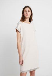 Dorothy Perkins Tall - OYSTER SEQUIN DRESS - Žerzejové šaty - nude - 0