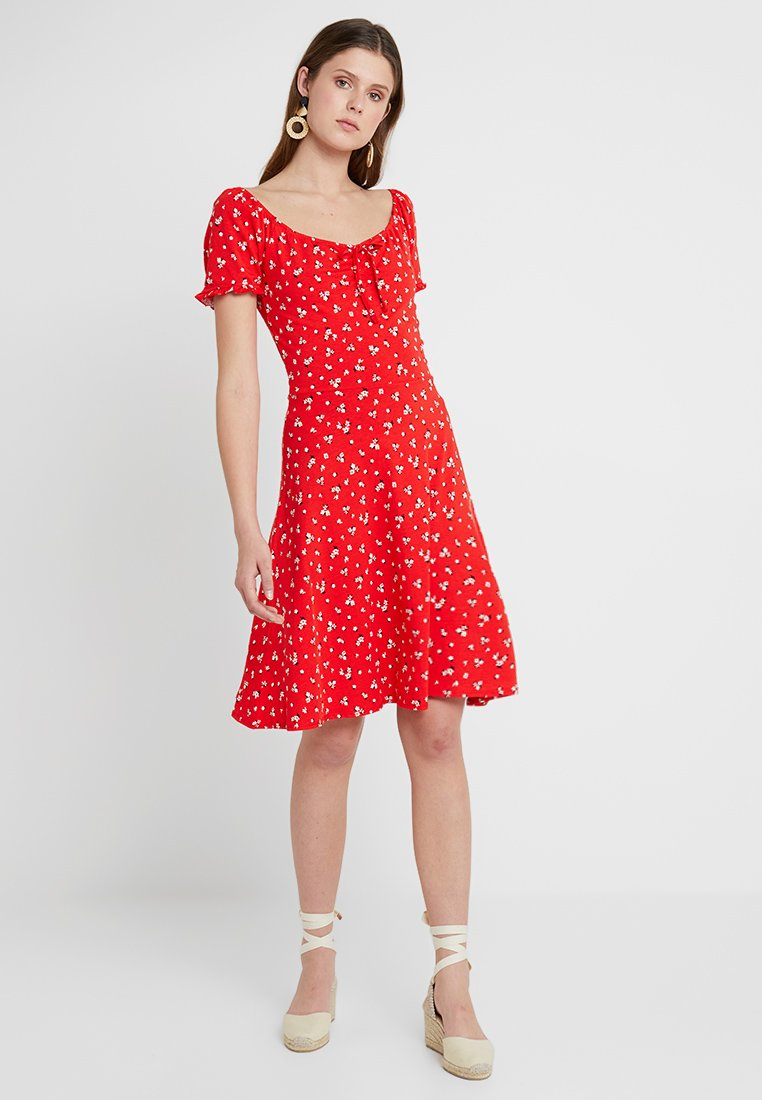 Dorothy Perkins Tall - DITSY GYPSY DRESS - Jerseykleid - red