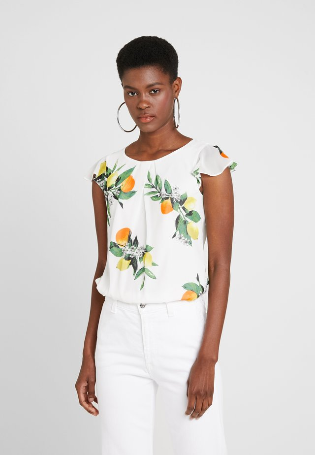 BILLIE LEMON PRINT SHELL - Blouse - ivory