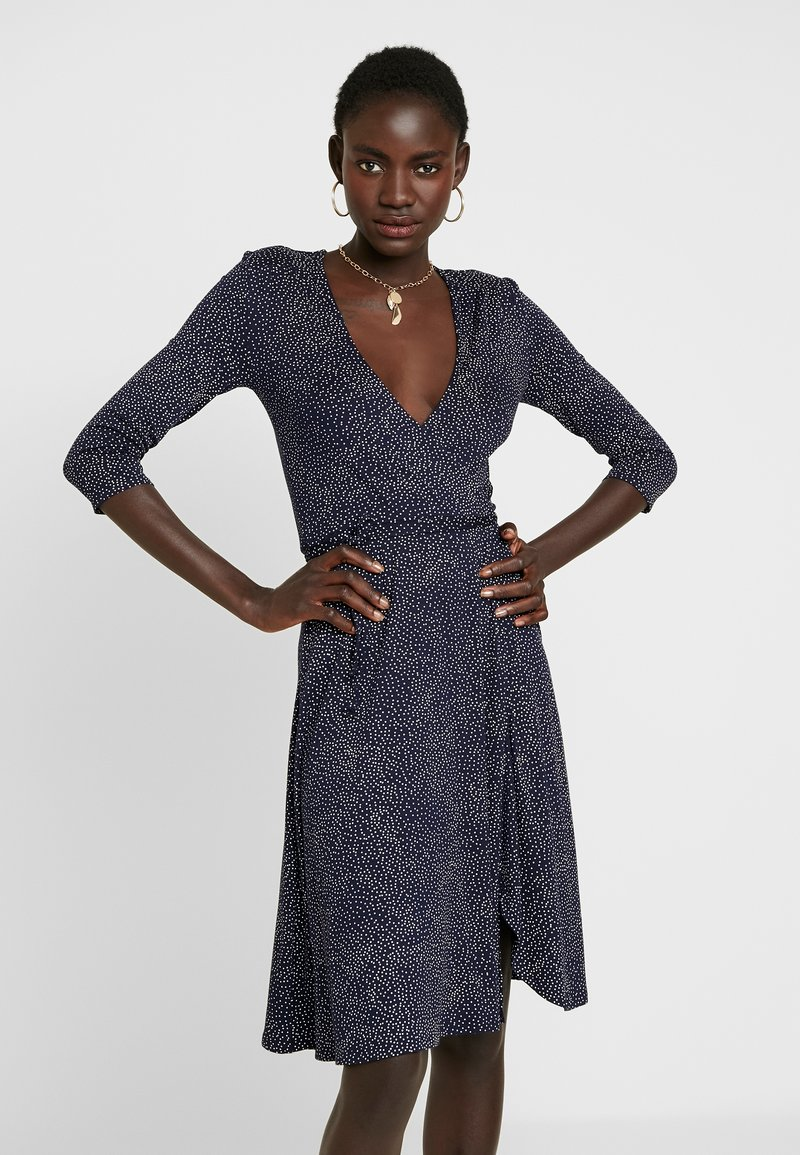 Dorothy Perkins Tall - WRAP DRESS - Jerseykjoler - dark blue