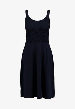 SHIRRED CAMI MIDI - Jerseykjole - dark blue
