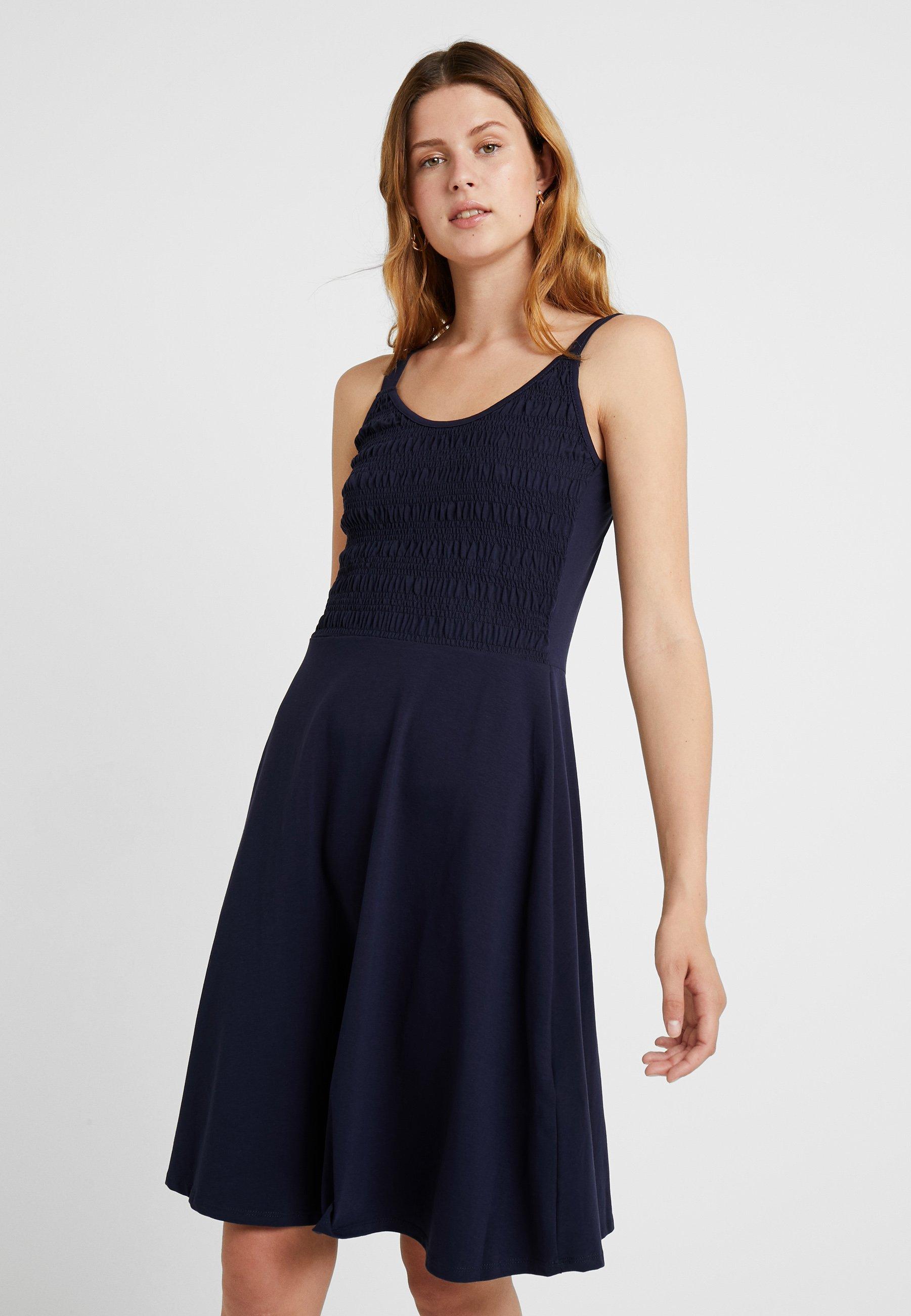Dorothy Perkins Shirred Dark Tall Blue En Cami MidiRobe Jersey vnwyOP0Nm8
