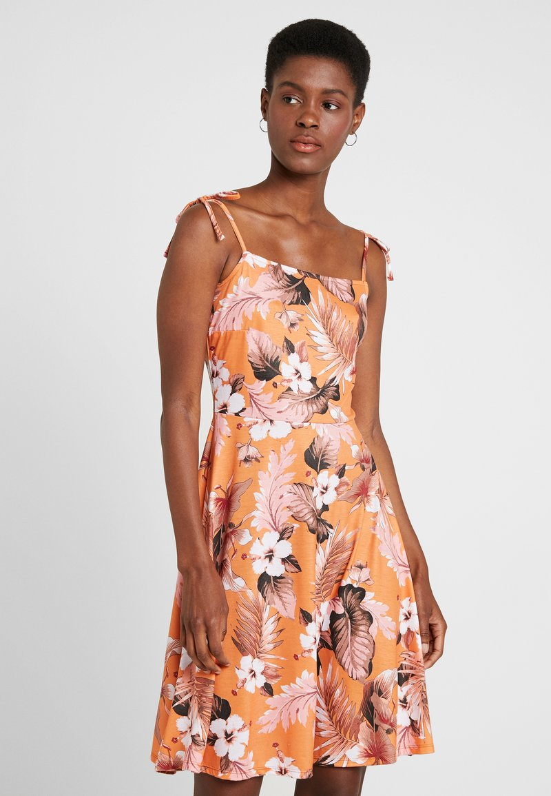 Dorothy Perkins Tall - SLEEVELESS TROPICAL CAMI DRESS - Jerseykleid - orange