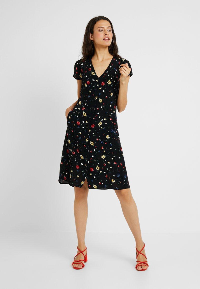 Dorothy Perkins Tall - DITSY TEA DRESS - Freizeitkleid - black