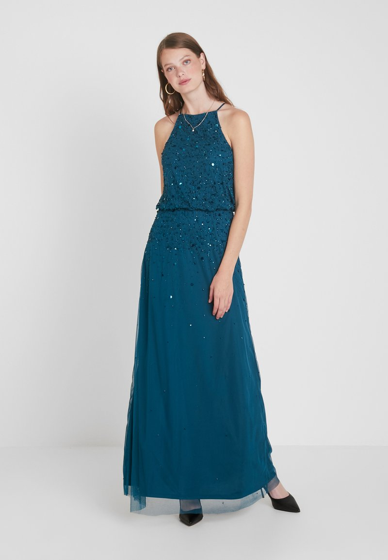 Dorothy Perkins Tall - AVA LOU HIGH NECK POP OVER  - Occasion wear - forest