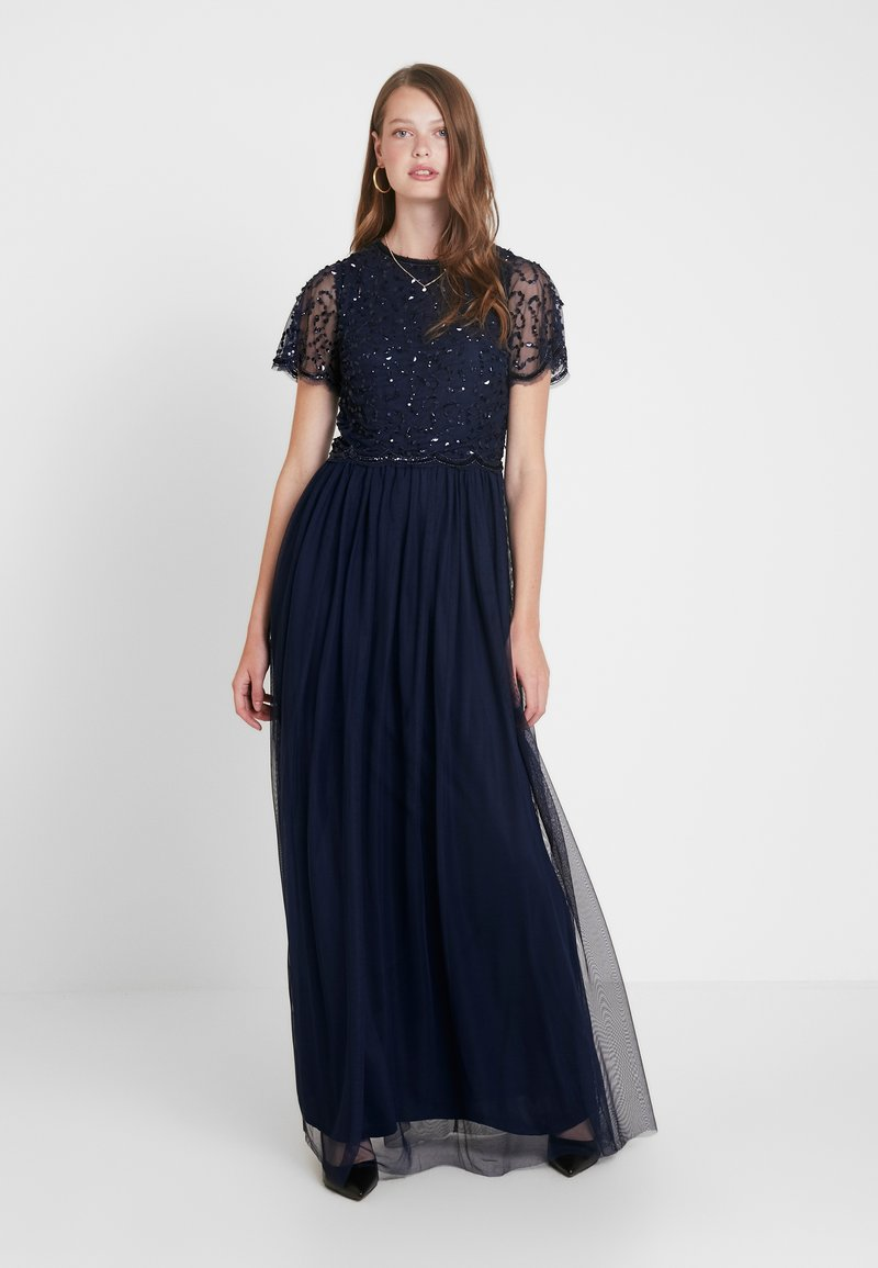 Dorothy Perkins Tall - TINA SLEEVED MAXI DRESS - Occasion wear - navy