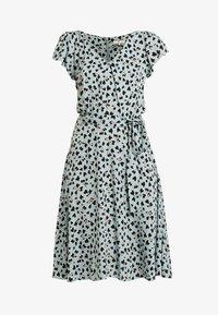 Dorothy Perkins Tall - HEART DITSY VNECK FIT & FLARE DRESS - Vardagsklänning - blue - 5