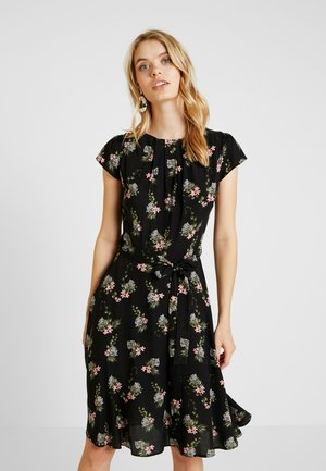 BLACK TIGER DITSY CREW NECK  FIT & FLARE DRESS - Vardagsklänning - black