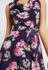 Dorothy Perkins Tall - BILLIE BLOSSOM FLORAL COWL NECK MIDI DRESS - Day dress - navy