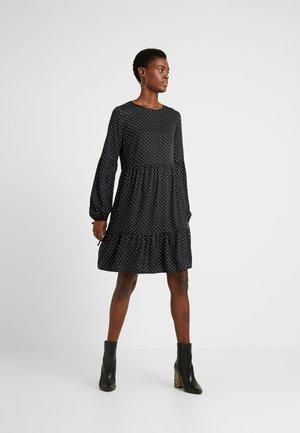 SPOT SMOCK - Korte jurk - black