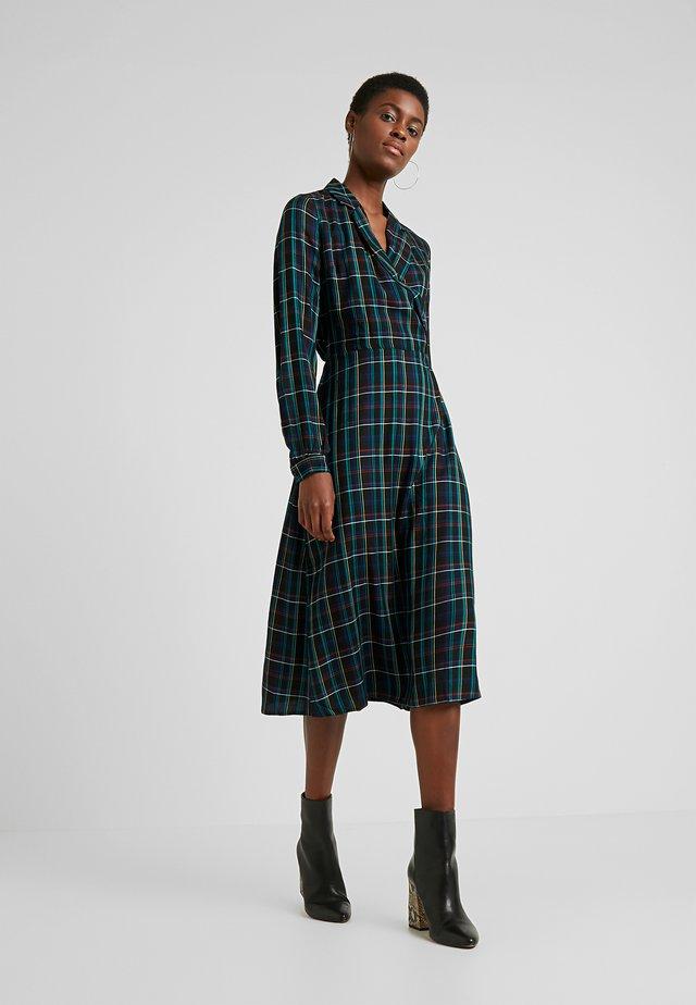 CHECK WRAP DRESS - Korte jurk - blue