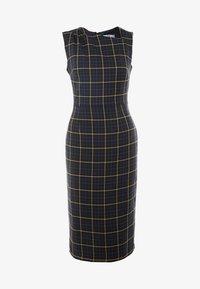 Dorothy Perkins Tall - CHECK ASYMMETRIC NECK DRESS - Shift dress - multi coloured - 5