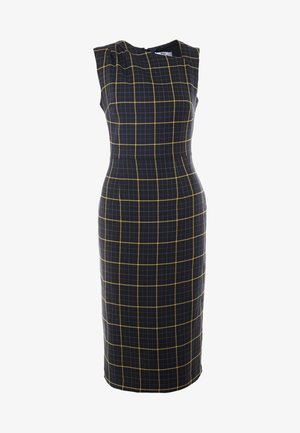 CHECK ASYMMETRIC NECK DRESS - Shift dress - multi coloured