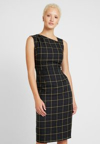 Dorothy Perkins Tall - CHECK ASYMMETRIC NECK DRESS - Shift dress - multi coloured - 0