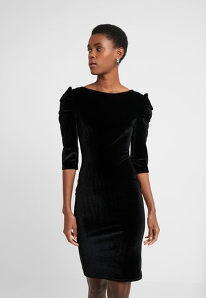 PUFF SLEEVE DRESS - Pouzdrové šaty - black