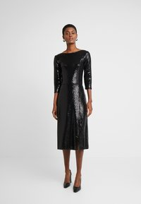 Dorothy Perkins Tall - BLACK ON BLACK SEQUIN MIDI - Cocktail dress / Party dress - black - 0