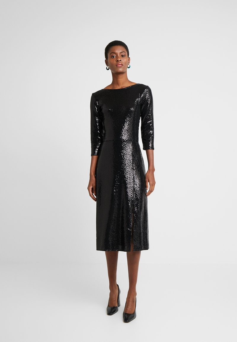 Dorothy Perkins Tall - BLACK ON BLACK SEQUIN MIDI - Cocktail dress / Party dress - black