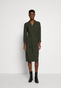 Dorothy Perkins Tall - LONG SLEEVE TRENCH DRESS - Day dress - khaki - 0