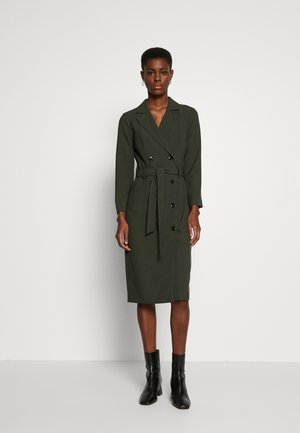 LONG SLEEVE TRENCH DRESS - Denní šaty - khaki