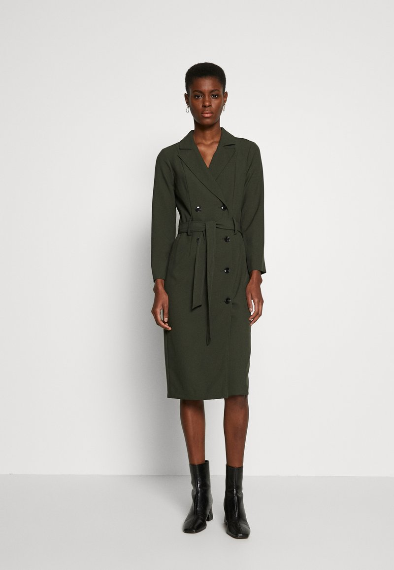 Dorothy Perkins Tall - LONG SLEEVE TRENCH DRESS - Day dress - khaki