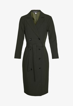 LONG SLEEVE TRENCH DRESS - Korte jurk - khaki